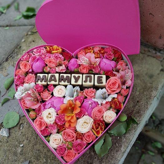 Коробочка Мамуле: букеты цветов на заказ Flowwow