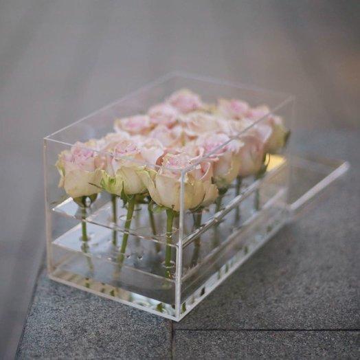Crysta box на 15 роз: букеты цветов на заказ Flowwow