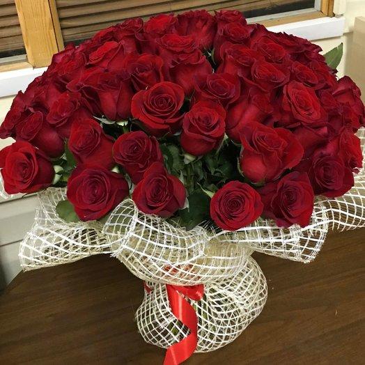 Букет из бордовых роз: букеты цветов на заказ Flowwow