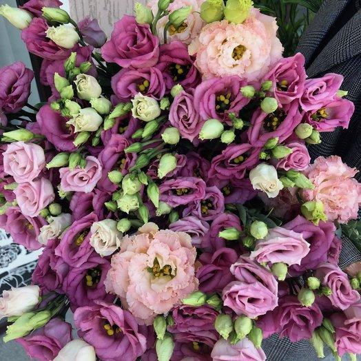 Эустома розовая: букеты цветов на заказ Flowwow