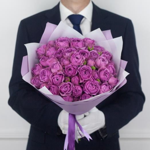 Букет из 15 кустовых роз Misty Bubbles: букеты цветов на заказ Flowwow