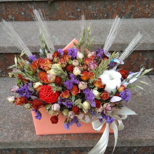 Летний этюд из сухоцветов: букеты цветов на заказ Flowwow