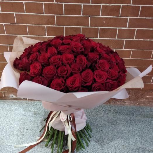101 красная роза премиум: букеты цветов на заказ Flowwow
