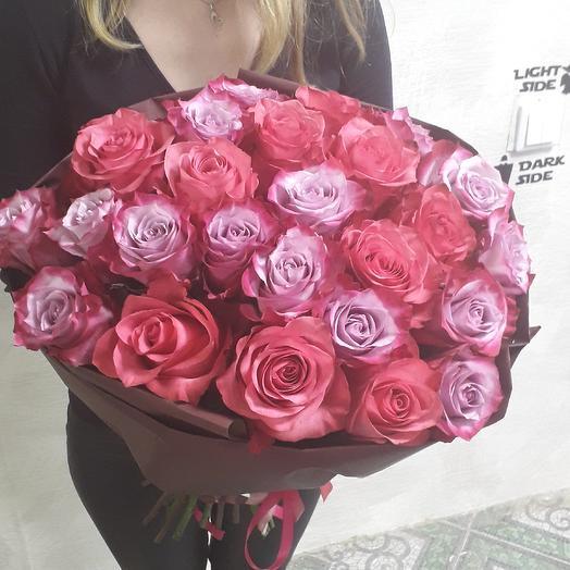 "25 роз Премиум ""Лола"": букеты цветов на заказ Flowwow"