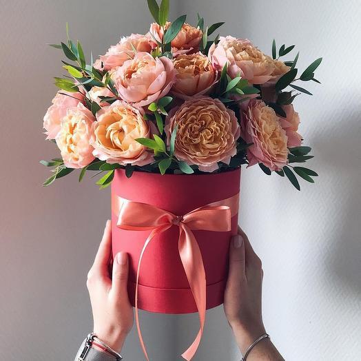 """Цветочная композиция """"Абрикосовое варенье"""": букеты цветов на заказ Flowwow"""