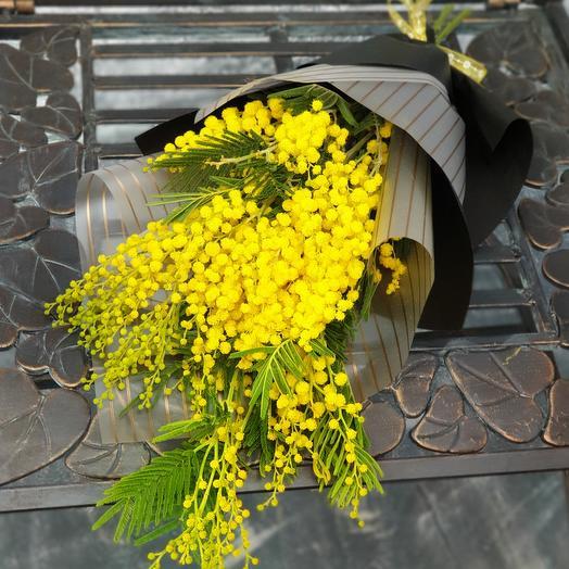 """Стильная мимоза """"Привет, Весна!"""": букеты цветов на заказ Flowwow"""