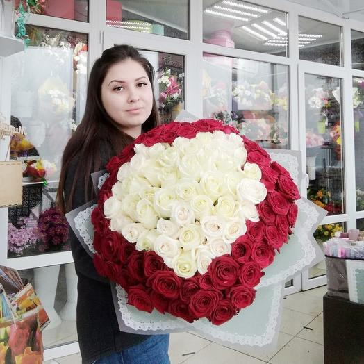 101 роза в виде сердца: букеты цветов на заказ Flowwow