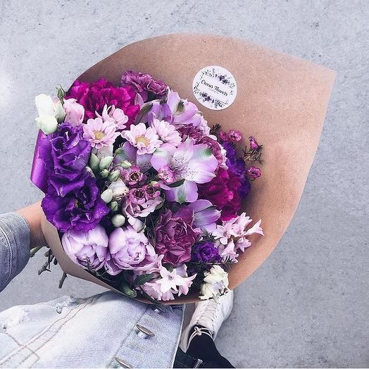 Черничный 💜: букеты цветов на заказ Flowwow