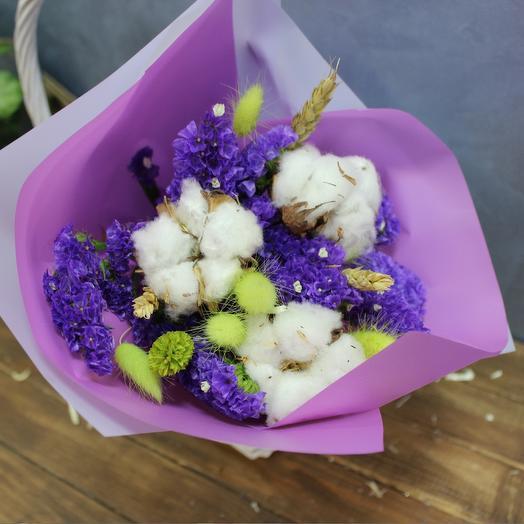 Нежный летний букет сухоцветов