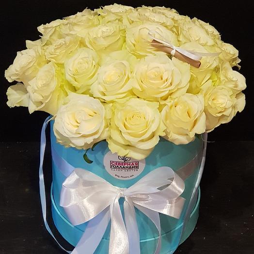 Шляпная коробка N 5: букеты цветов на заказ Flowwow