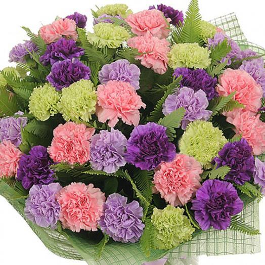 Букет из гвоздик «Махровый ковер»: букеты цветов на заказ Flowwow