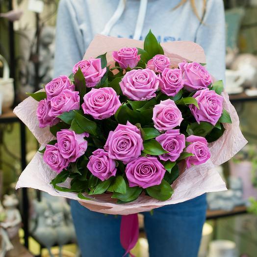 """Букет из розовых роз """"Касандра"""": букеты цветов на заказ Flowwow"""