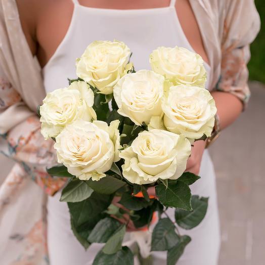 Букет белых роз для мамы: букеты цветов на заказ Flowwow