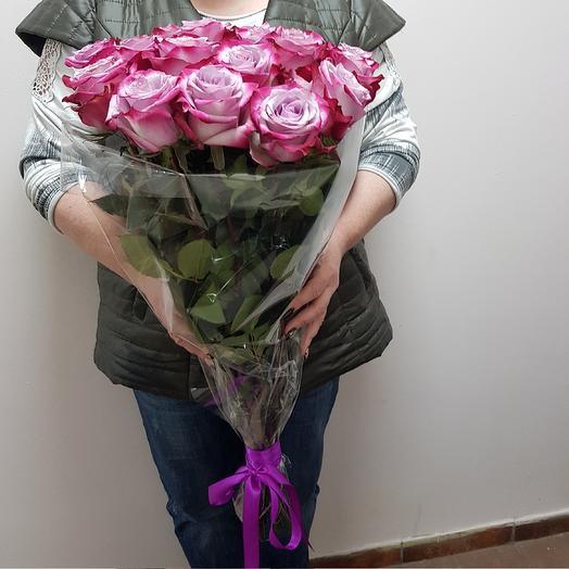 Роза Диперпл 19 шт: букеты цветов на заказ Flowwow