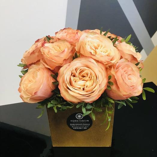 Персики в кашпо: букеты цветов на заказ Flowwow