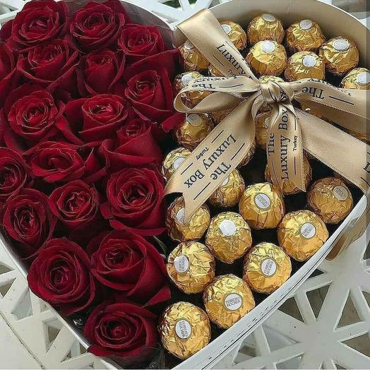 Ferrero Rocher: букеты цветов на заказ Flowwow