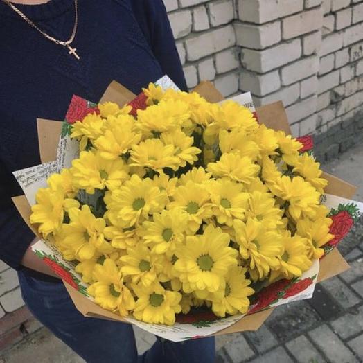 Желтые ромашки: букеты цветов на заказ Flowwow