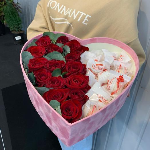 """Сердце """"Сласть и страсть"""": букеты цветов на заказ Flowwow"""