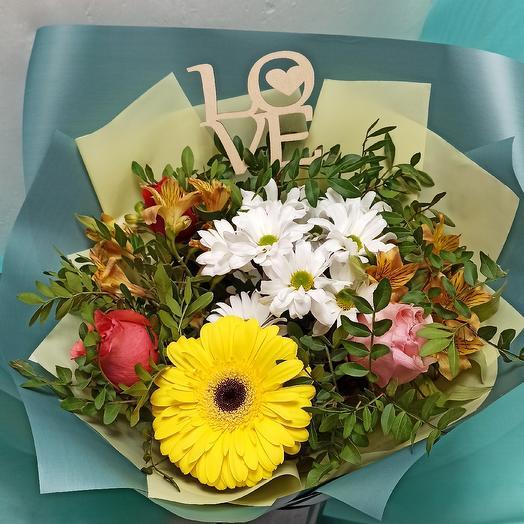 Все для любимой + Подарок Топпер: букеты цветов на заказ Flowwow