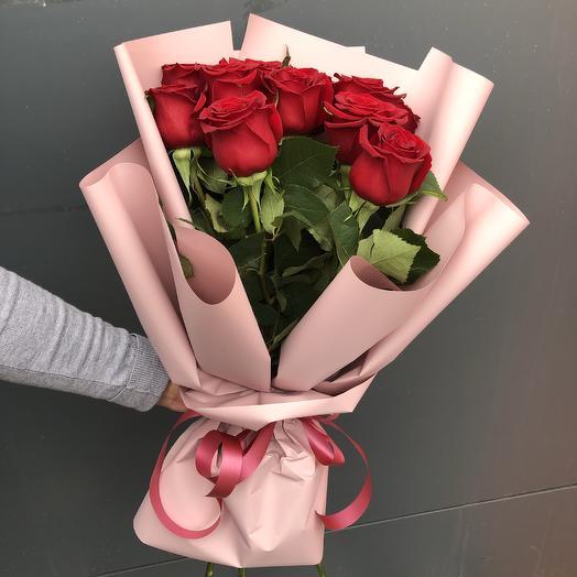 Красные розы 11: букеты цветов на заказ Flowwow