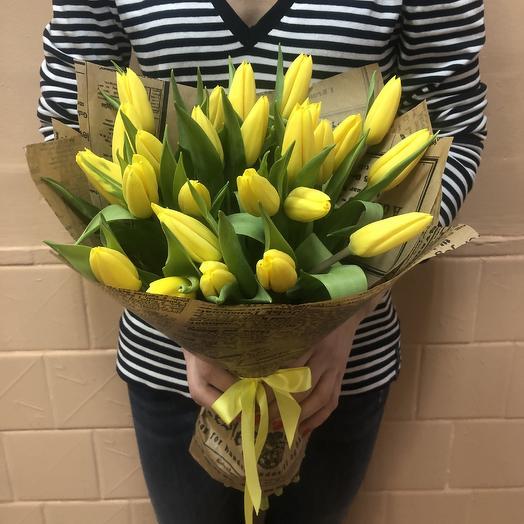 Букет тюльпаны жёлтые: букеты цветов на заказ Flowwow