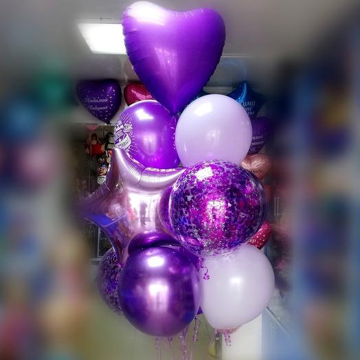 Гелиевые шары в сиреневый гамме: букеты цветов на заказ Flowwow