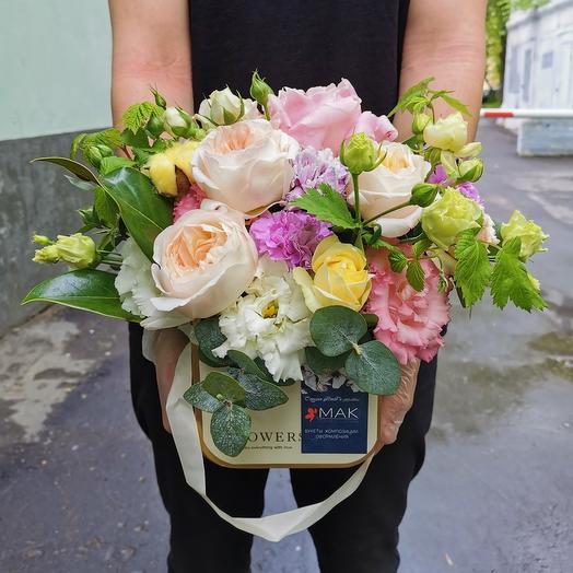 Ваниль и садовые розы: букеты цветов на заказ Flowwow