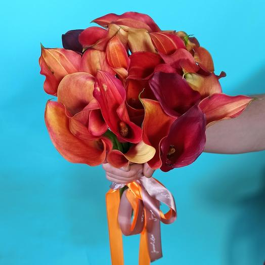 Букет из калл: букеты цветов на заказ Flowwow