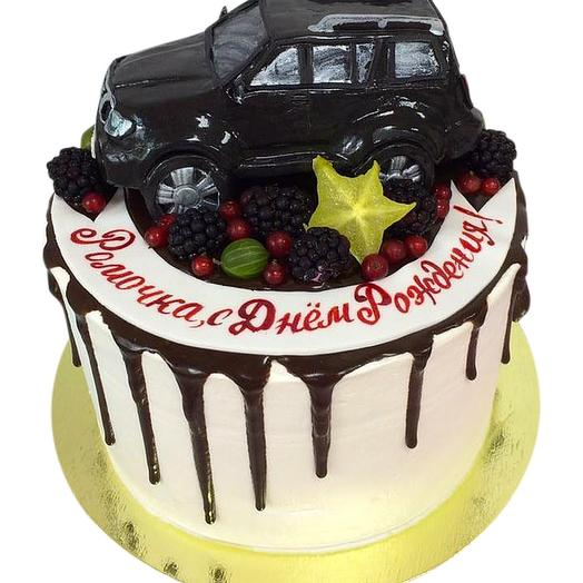 """Торт """"с фигуркой авто"""""""