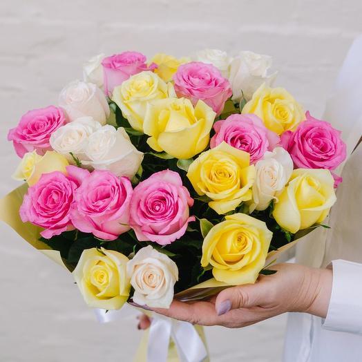Букет из 25 роз Самоцветы