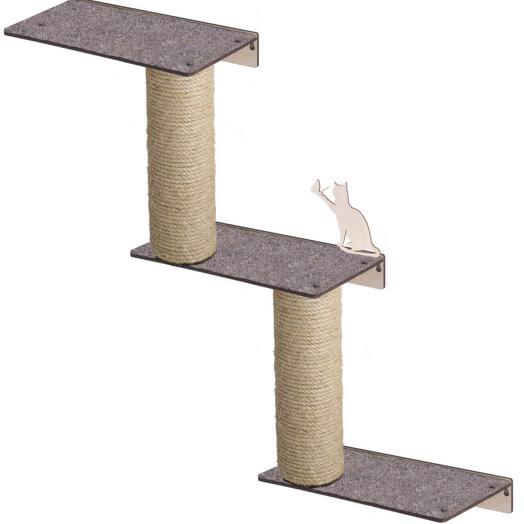 Настенный игровой комплекс для кошек Хвостович 123 цвет: бежевый