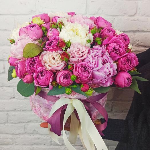 "Цветы в коробке ""Мисти Баблс"" Premium"