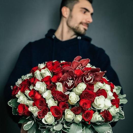 Розы премиум в коробке XXL