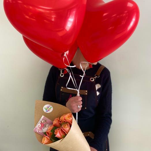 Комбо набор Розы и шарики