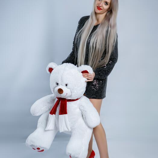 Мишка 117 см «Граф Ред» белый