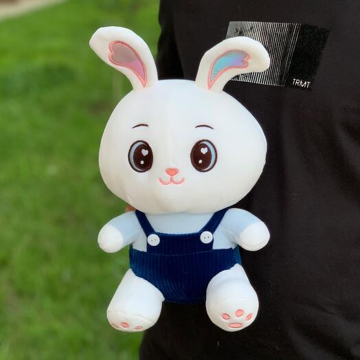 Заяц в синем \30см
