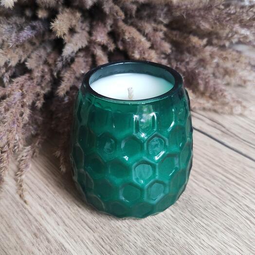 Ароматическая свеча ручной работы из кокосового воска / Начало весны / 200 мл