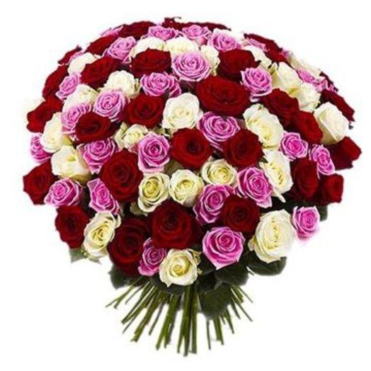 Букет из 101 розы Моей королеве: букеты цветов на заказ Flowwow