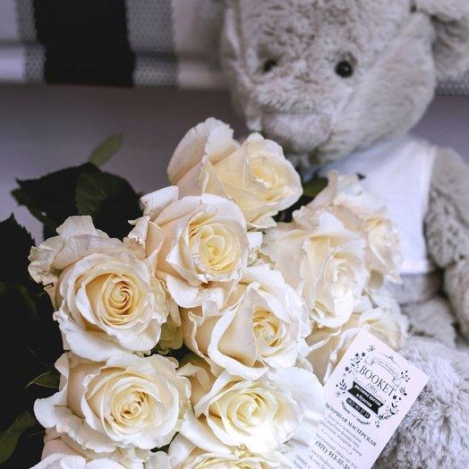 Букет из 15 эквадорских роз сорта premium: букеты цветов на заказ Flowwow
