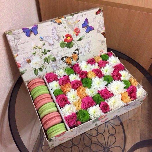 Коробочка Монако: букеты цветов на заказ Flowwow