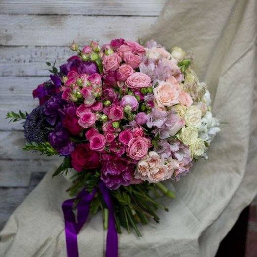 Неповторимое омбре: букеты цветов на заказ Flowwow