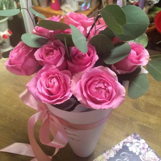 Букет из 10 розовых кенийская роза: букеты цветов на заказ Flowwow