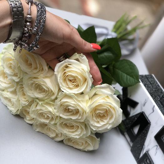 Букет белых роз : букеты цветов на заказ Flowwow