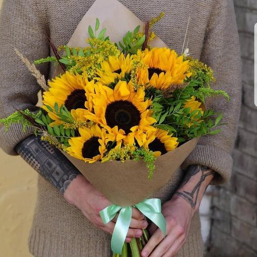 Солнечный пожар: букеты цветов на заказ Flowwow