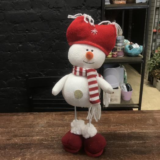 Игрушка снеговик: букеты цветов на заказ Flowwow