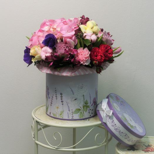 """Подарочная коробка """"Амели"""": букеты цветов на заказ Flowwow"""
