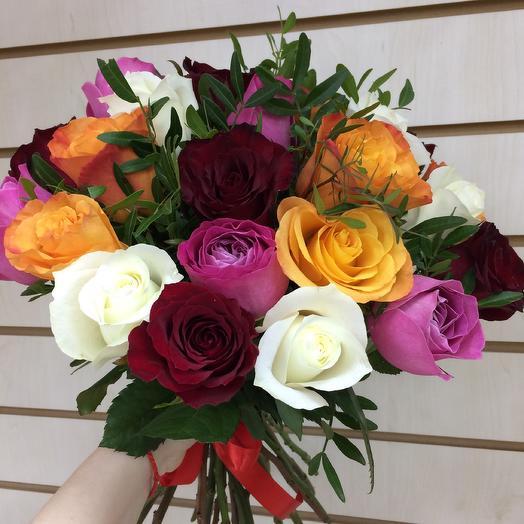 Яркие розы: букеты цветов на заказ Flowwow