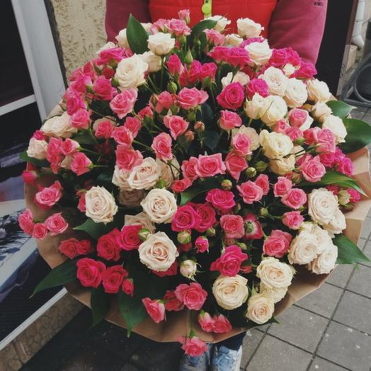 Букет из 36 кустовых роз: букеты цветов на заказ Flowwow