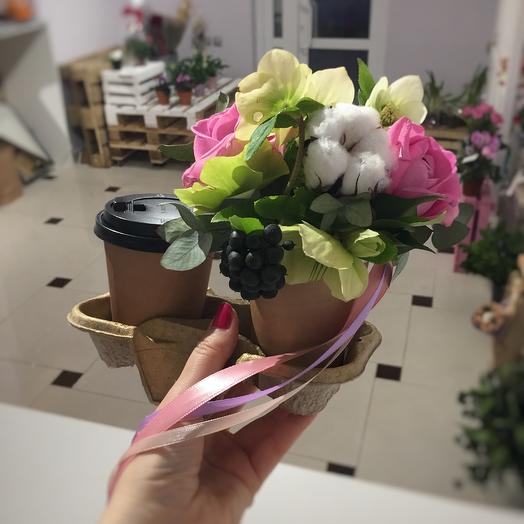 Доброе кофейное 💞☕️: букеты цветов на заказ Flowwow