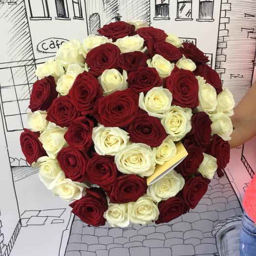 Красное и Белое 51: букеты цветов на заказ Flowwow